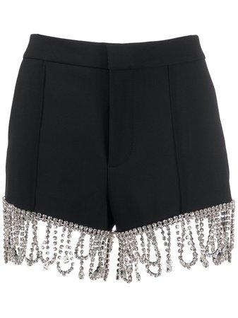 AREA Crystal Embellished Shorts - Farfetch