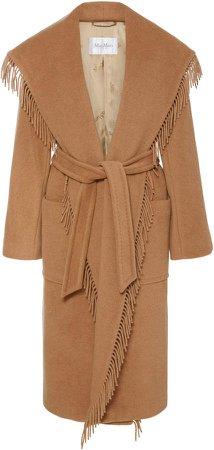 Pacos Fringe-Trimmed Wool Coat