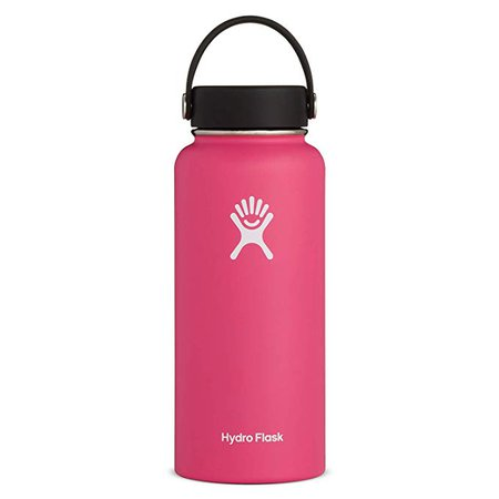 Amazon.com: Hydro Flask Water Bottle - Stainless Steel & Vacuum Insulated - Wide Mouth with Leak Proof Flex Cap - 32 oz, Watermelon: Kitchen & Dining