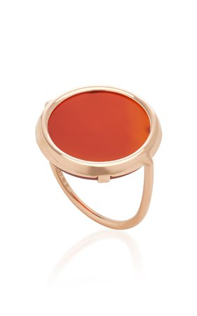 Cordoba Carnelian Disc Ring by Ginette NY | Moda Operandi