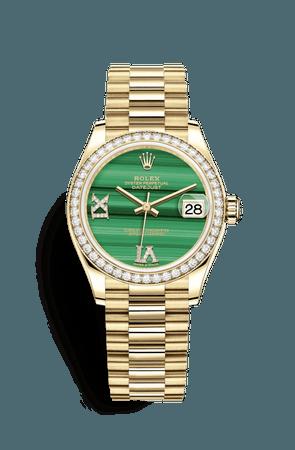 Rolex Datejust 31 Watch: 18 ct yellow gold - M278288RBR-0004
