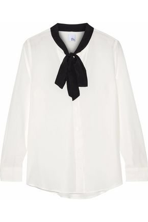 Skye washed-silk blouse | IRIS & INK | Sale up to 70% off | THE OUTNET