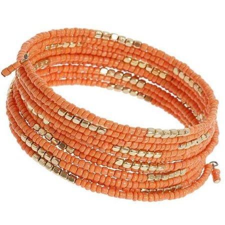 Orange & Gold Coin Bracelet