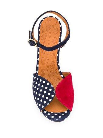 CHIE MIHARA polka dot sandals
