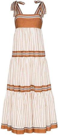 Veneto tiered maxi dress