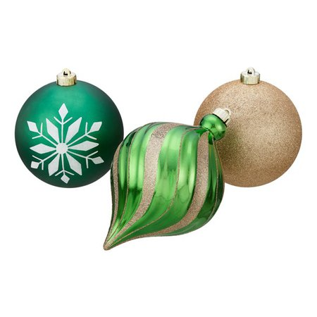 Holiday Time Shatterproof Christmas Tree Ornaments, 6 Count, Multiple Colors - Walmart.com - Walmart.com