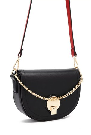 Black Gold Red Leather Purse
