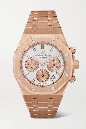 Audemars Piguet | Royal Oak Automatic Chronograph 38mm 18-karat pink gold watch | NET-A-PORTER.COM