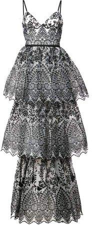 sleeveless eyelet organza gown