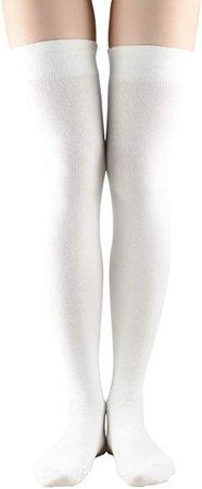 Women Non Slip Thigh High Socks Fashion Tube Stockings above Knee Cosplay Socks at Amazon Women's Clothing store