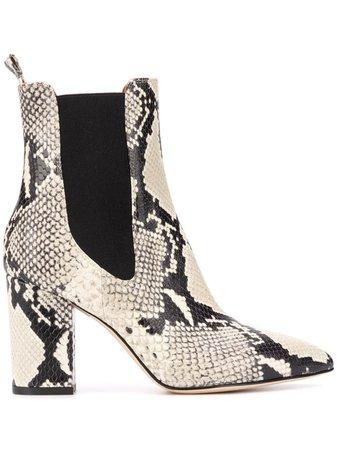 Paris Texas snakeskin-effect pull-on Boots - Farfetch