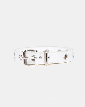 Single Eyelet White Belt | Grommet – motelrocks-com-us
