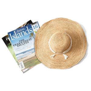 hat and magazine
