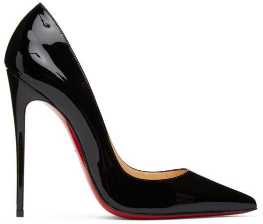 Black Patent Kate 120 Heels