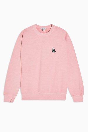 Pink Panda Emoji Sweatshirt | Topshop