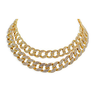 cuban link diamond choker