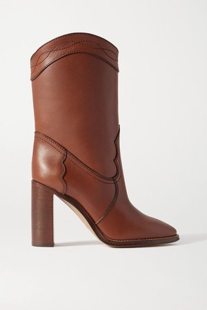 Kate Leather Ankle Boots - Tan