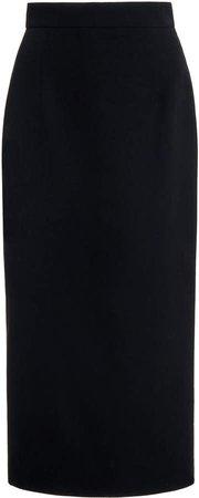 Alessandra Rich Midi Skirt In Light Wool