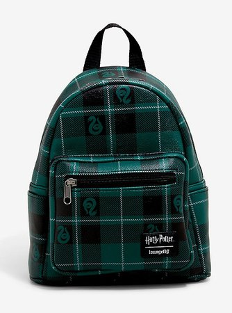 Loungefly Harry Potter Slytherin Plaid Mini Backpack