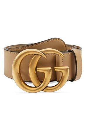 Gucci GG Logo Leather Belt | Nordstrom