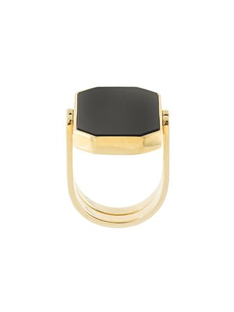 Julia Davidian convertible octagonal ring gold & black GPRONX1 - Farfetch