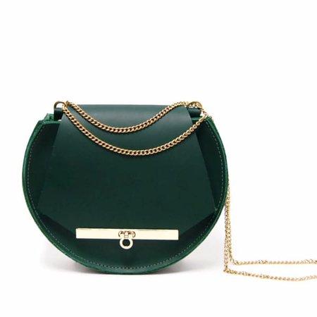 Loel Mini Military Bee Crossbody & Clutch In Emerald Green   Angela Valentine Handbags   Wolf & Badger