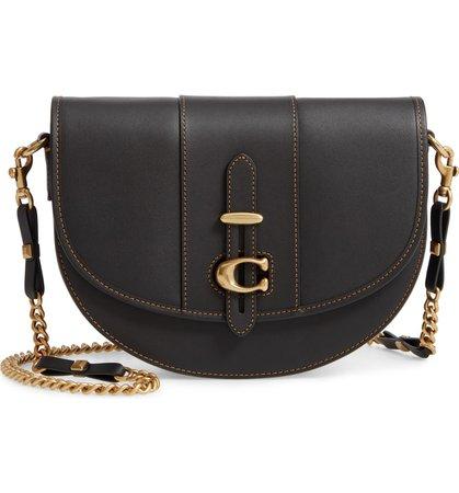 COACH Saddle 20 Signature Jacquard & Leather Crossbody Bag   Nordstrom