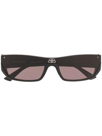 Balenciaga Eyewear 'Shield Rectangle' Sonnenbrille - Farfetch