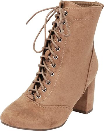 Amazon.com | Cambridge Select Women's Lace-up Chunky Block Heel Victorian Ankle Bootie | Ankle & Bootie