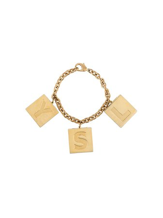 Yves Saint Laurent Pre-Owned 1990S Ysl Makeup Charms Bracelet ST4490 Gold | Farfetch