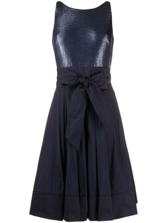 Lauren Ralph Lauren Yuko Metallic-Taffeta Dress 253786765 Blue | Farfetch