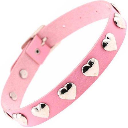 Unholy - Ruby Heart Baby Pink Choker