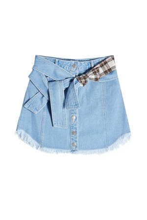 Denim Skirt with Printed Detail Gr. XS