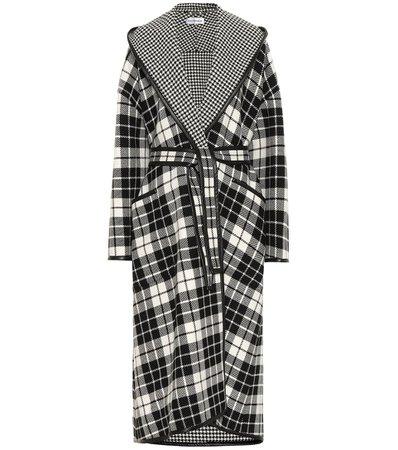 Checked Wool-Blend Coat - Balenciaga | Mytheresa