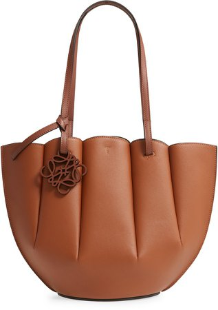 Small Shell Leather Tote