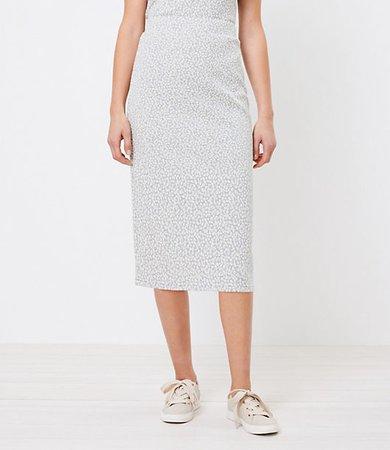 Animal Print Pull On Midi Skirt