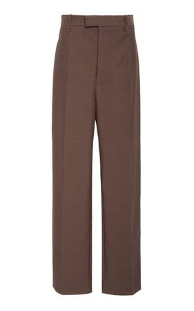 High-Rise Straight-Leg Wool Trouser By Bottega Veneta | Moda Operandi