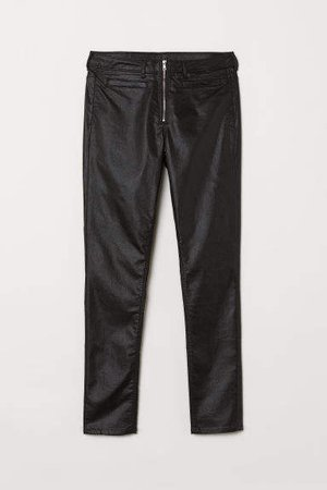 Skinny High Ankle Jeans - Black