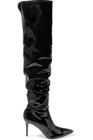 Gianvito Rossi | 85 vinyl over-the-knee boots | NET-A-PORTER.COM