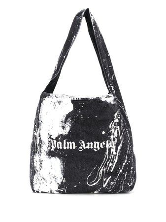 Palm Angels Tie-Dye Logo Print Tote Bag Aw20 | Farfetch.Com
