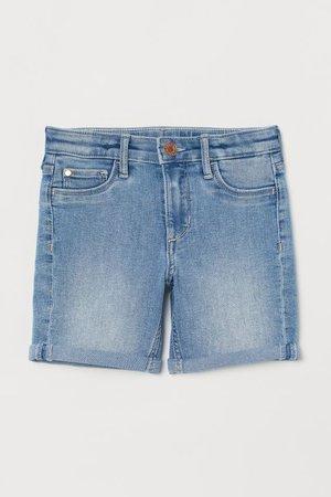 Denim Shorts - Light denim blue -   H&M US