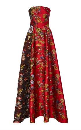 Oscar de la Renta Strapless Ball Gown