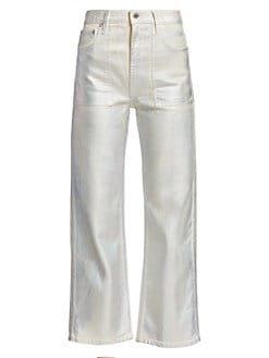 Helmut Lang metallic jeans