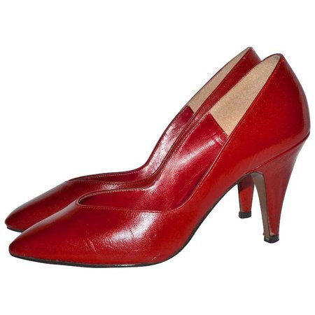 1960s Donaire ~ Red Kidskin Leather Heels : Kitsch & Couture | Ruby Lane