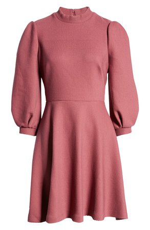 Gal Meets Glam Collection Maggie Texture Knit Fit & Flare Dress (Nordstrom Exclusive) | Nordstrom