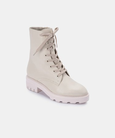 LOTTIE BOOTS IN IVORY ECO LEATHER – Dolce Vita