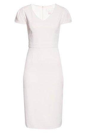Rachel Parcell Short Sleeve Crepe Sheath Dress (Nordstrom Exclusive)   Nordstrom