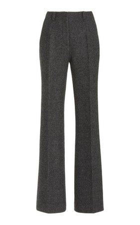 Amelie Wool Flared-Leg Trousers By Khaite | Moda Operandi