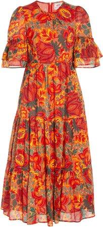 Banjanan Faith Floral-Print Cotton Dress