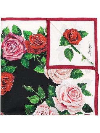 Dolce & Gabbana rose pattern scarf